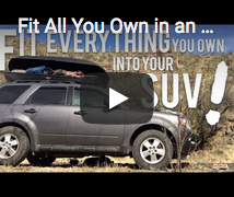 Minimalist in SUV Car Camp