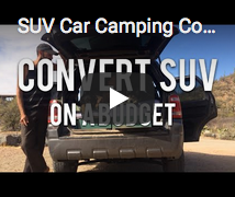 Convert SUV into Car Camper