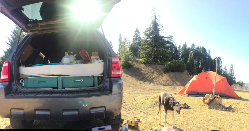 Sleeping in a Ford Escape Car Camping